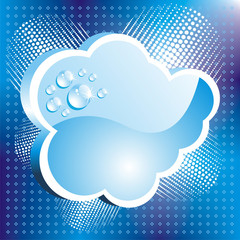 Abstract Cloud Background with water drops or dew.