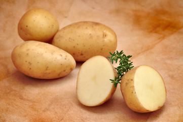 Raw Potatoes and Thyme
