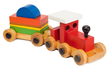 Old wooden toy train