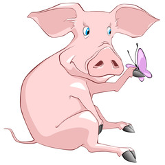 Cartoon Character Pig