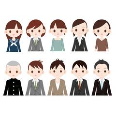 色々な人物 10人