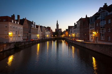 Canale a Bruges (Brugge), Belgio