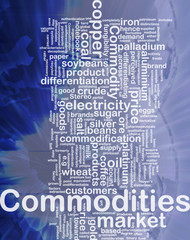 Commodities background concept