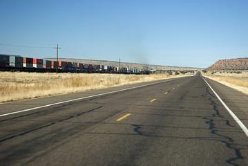 Straight american roads