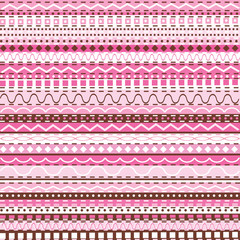 Pink decorative motifs