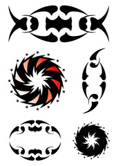 Set beautiful ornamental tattoo 2