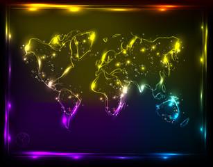 globe light map design