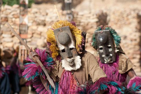 Rabbit mask and the Dogon dance, Mali.