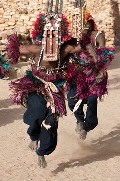 Antelope mask and the Dogon dance, Mali.