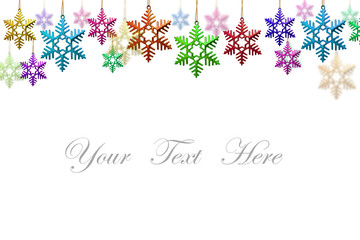 snowflakes decorations isolated on white background