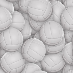 Volleyballs Seamless Texture Tile from Photographic Original