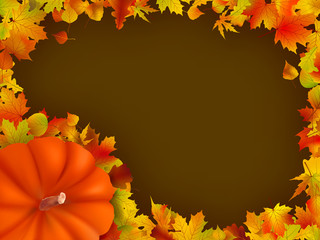 Thanksgiving holiday frame. EPS 8