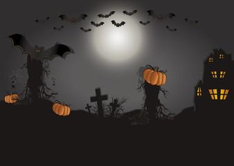 Halloween card horizontal