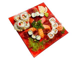 Sushi Set - Different Types of Maki Sushi and Nigiri Sushi