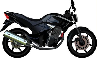 Keuken foto achterwand Motorfiets Black Motorcycle