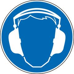 Gebotszeichen Gehörschutz tragen Schild Zeichen