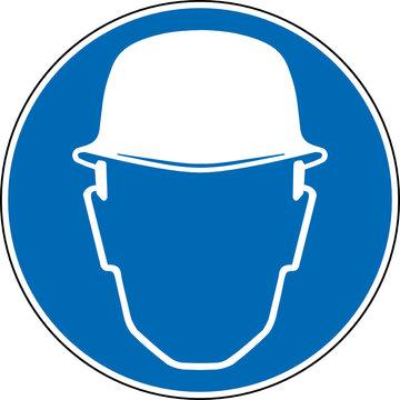 Gebotszeichen Schutzhelm Kopfschutz tragen Zeichen