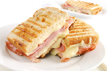 Printed roller blinds Snack Grilled ham and cheese sandwich