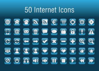 50 icônes internet