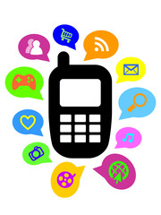 MOBILE PHONE ICON (smart services web internet apps functions)