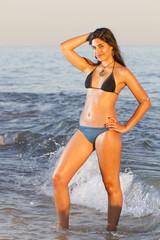 beautiful young girl with a bikini