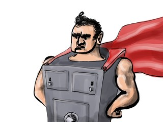 Safe-man superhero