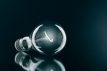 a shone electric bulb.