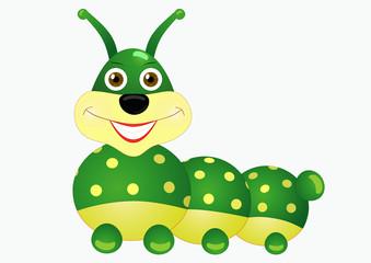 Caterpillar boy, cartoon