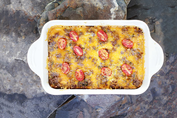 Hash Brown Strata or Breakfast Casserole