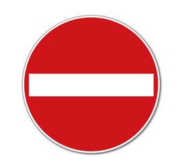 Verbot der Einfahrt, Verkehrszeichen