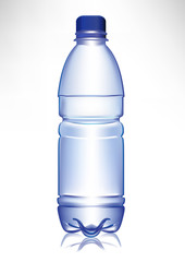 simple small plastic water bottle