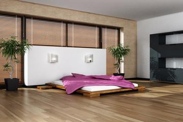 Modern interior of the sleeping