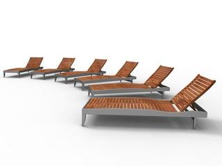leisure on deckchair