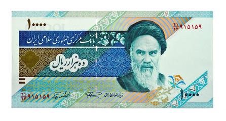 Currency of Iran 10000 rials bill