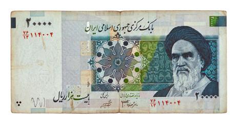 Currency of Iran 20000 rials bill