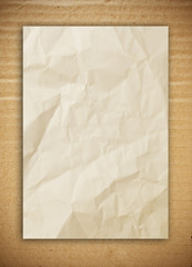 paper on the corrugated cardboard