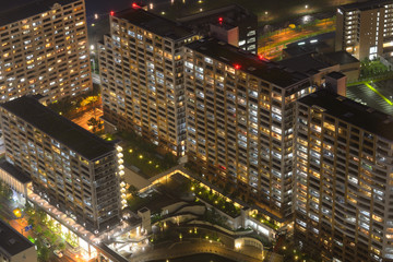Aerial View of Apartment Complex in Osaka, Japan