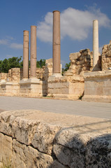 The stage of amphitheater in Beit-Shean. Israel.
