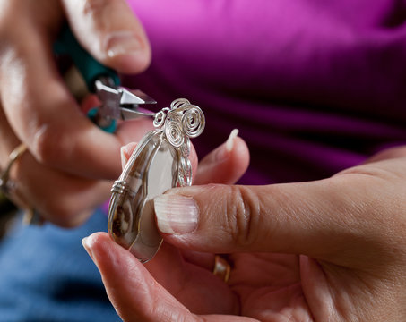 Making home made jewelry