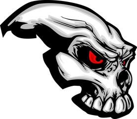 Skull with Cartoon Image