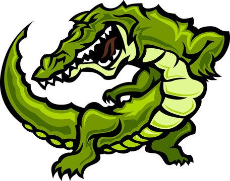 Gator or Alligator Mascot Body Graphic