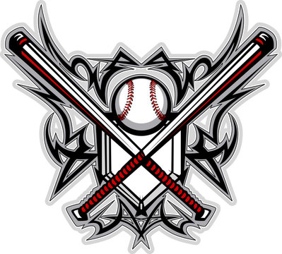 Baseball Softball Bats Tribal Graphic Image