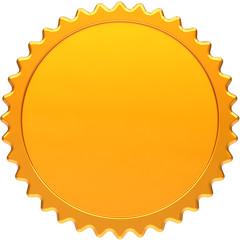Blank award medal design element. Golden seal concept