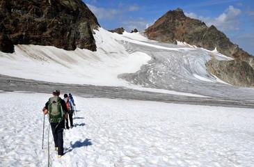 randonnée en haute montagne