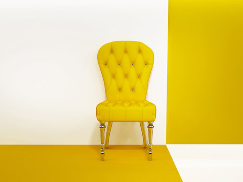 Armchair or chair in abstraction interior