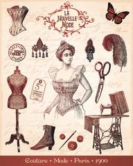MODA PARYŻ 1900