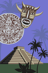 Mayan Pyramid and Calendar