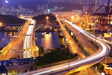 freeways at night