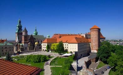 Autocollant pour porte Cracovie Wawel - Krakau - Polen