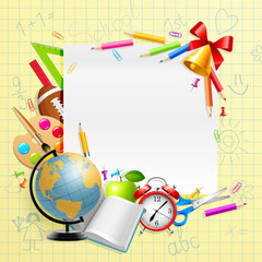 Wall Mural - Back to school background